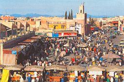 der Jemaa-El-Fna-Platz, Marrakech